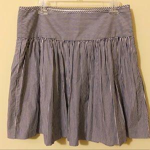Gap A-line striped skirt NWOT